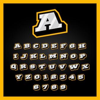 Etro esporte estilo alfabeto az letras conjunto