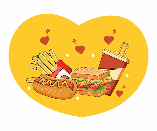 Eu amo fast food