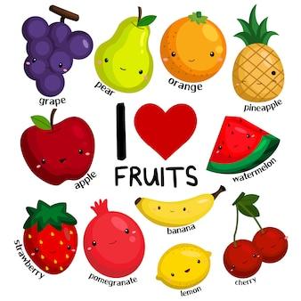 Eu amo frutas