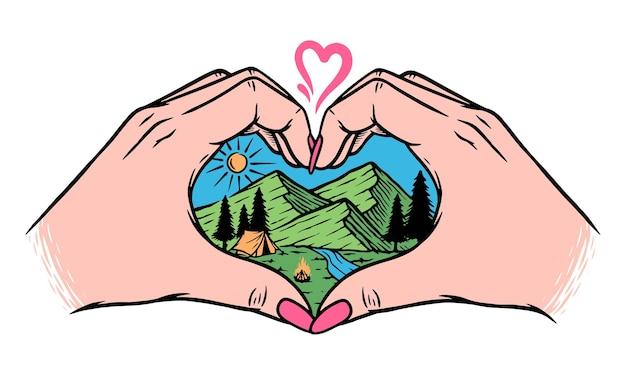 Eu amo montanhas