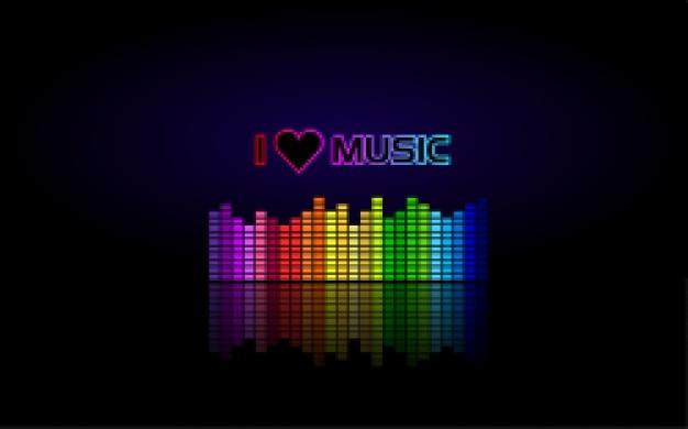 Eu amo música papel de parede
