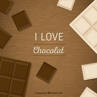 Eu amo o fundo chocolat