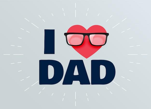 Eu amo o pai pais dia fundo