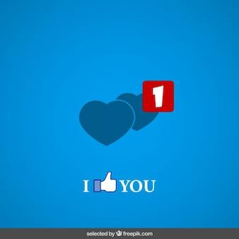 Eu gosto de você cartão