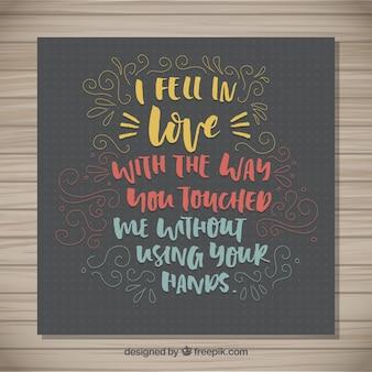 Eu me apaixonei frase