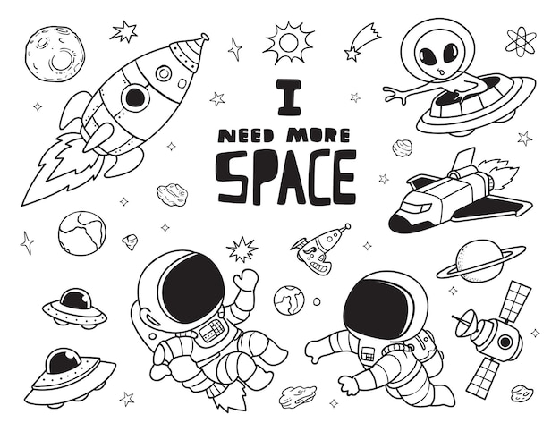 Eu preciso de mais rabiscos espaciais
