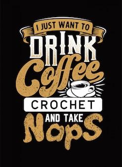 Eu quero beber café texto