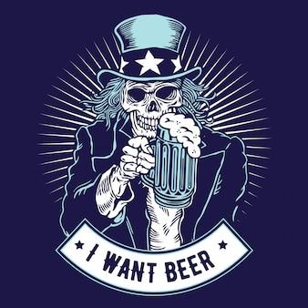 Eu quero cerveja - tio sam
