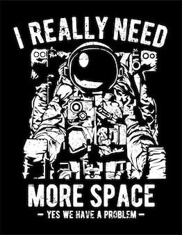 Eu realmente preciso de mais espaço
