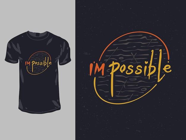 Eu sou possível citação de palavras para o design da camisa