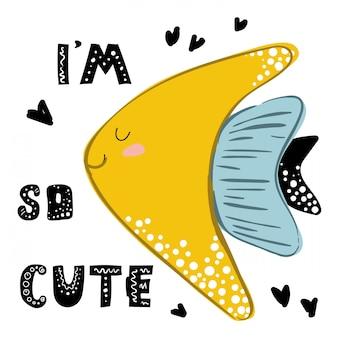 Eu sou tão fofo, citação com peixes dourados