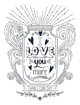 Eu te amo mais ilustração