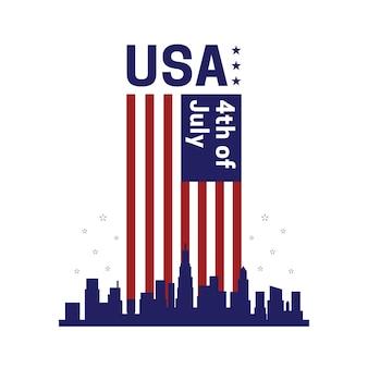 Eua, estados unidos da américa 4 de julho celebração do dia da independência