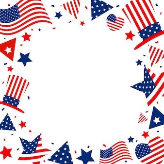 Eua ou fundo de banner de américa com espaço de cópia