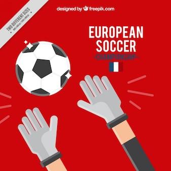 Euro 2016 fundo com um goleiro