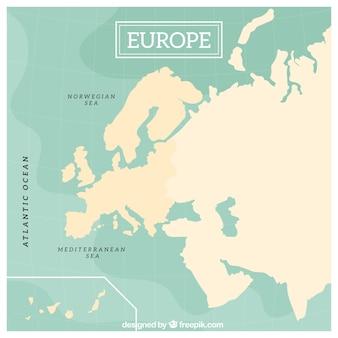 Europa, mapa, desenho
