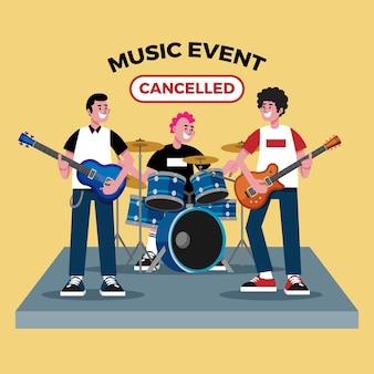 Evento cancelado para música