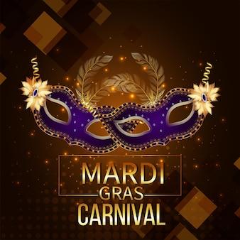 Evento criativo de carnaval com máscara criativa