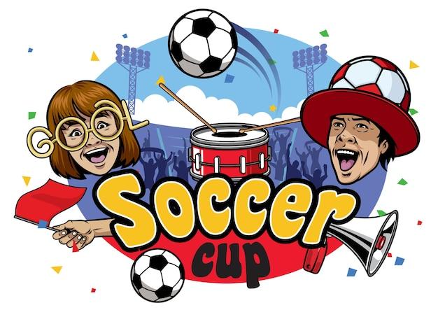 Evento da copa de futebol