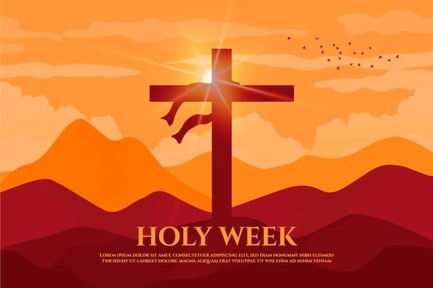 Evento da semana santa plana