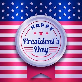 Evento de comemoração do dia dos presidentes de design plano