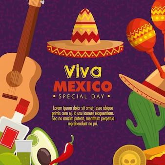Evento de cultura do méxico com decoração tradicional