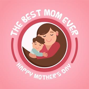 Evento de dia das mães estilo simples