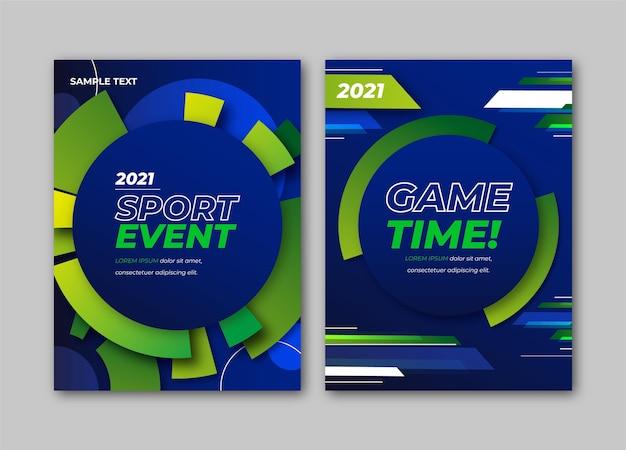 Evento de jogo de esporte 2021 pôster