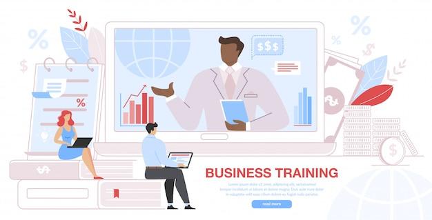 Evento de treinamento para negócios, ensino corporativo remoto