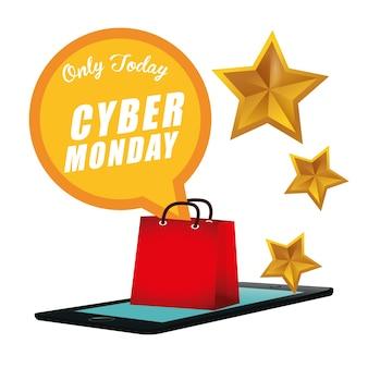 Evento de venda do cyber segunda-feira