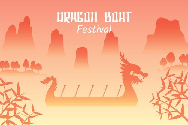 Evento de zongzi de barcos-dragão