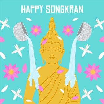 Evento desenhado à mão songkran