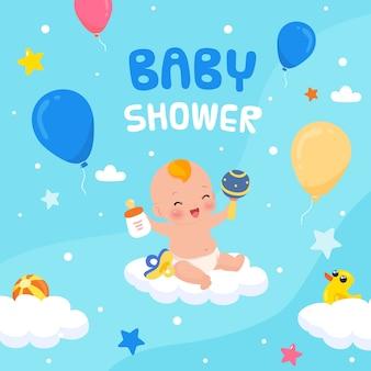 Evento do chuveiro de bebê para design de menino