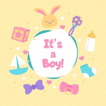 Evento do chuveiro de bebê para menino