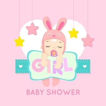 Evento do chuveiro de bebê para o tema da menina
