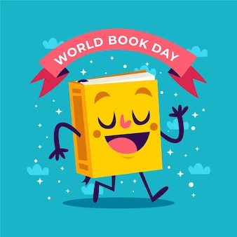 Evento do dia do livro no mundo plano