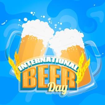 Evento do dia internacional da cerveja plana