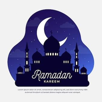 Evento do ramadã com ilustração do taj mahal
