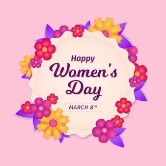 Evento floral do dia da mulher feliz