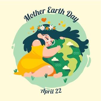 Evento internacional colorido do dia da mãe terra