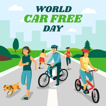 Evento mundial de dia livre de carro