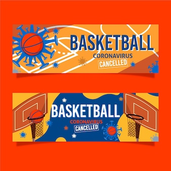 Eventos de basquete cancelados banners