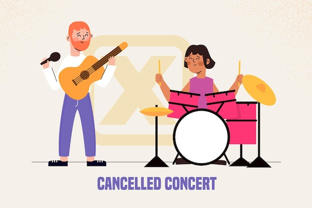 Eventos musicais cancelados com banda