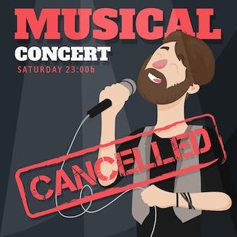 Eventos musicais cancelados com cantor