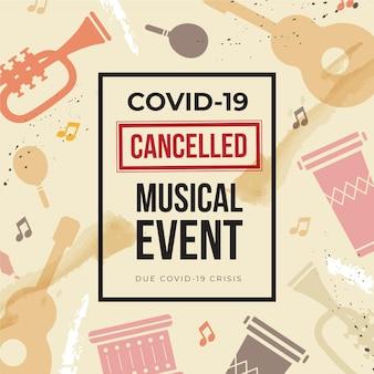 Eventos musicais cancelados com instrumentos