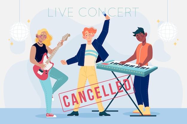 Eventos musicais cancelados ilustrados