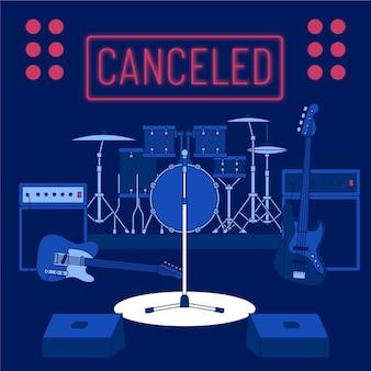 Eventos musicais cancelados