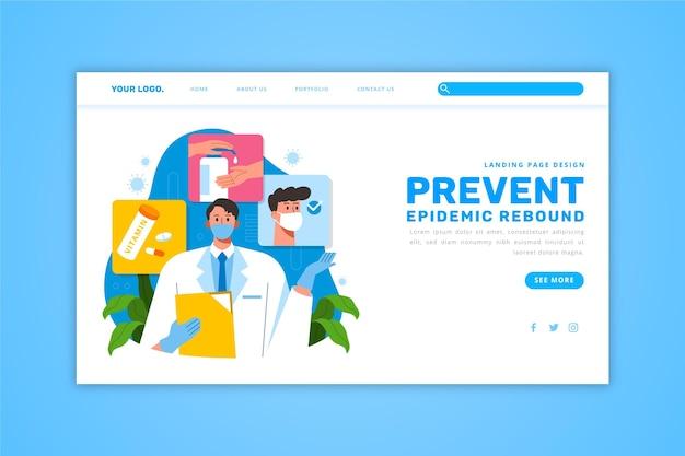 Evitar a página de destino da recuperação da epidemia