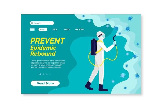 Evitar o modelo de página de destino da recuperação da epidemia
