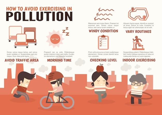 Evite se exercitar na poluição